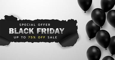 schwarzer Freitag Hintergrund oder Sonderangebot Promotion Sale Banner für Business- und Werbeplakat
