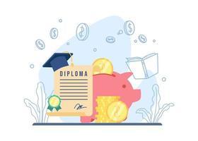 Stipendienausbildungskonzept vektor