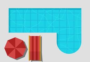 Vorschau Top Pool Hintergrund Vorlage Banner vektor