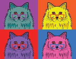 Katze Pop-Art-Vektor vektor
