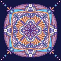 bunter Mandala Hintergrund vektor