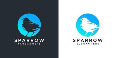 Sparrow Logo Design Vorlage vektor