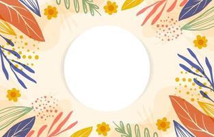 färgglad handritad blommig bakgrund vektor
