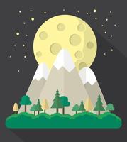 Flache Landschaft bei Nacht vektor