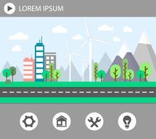 staden grön energi vektor