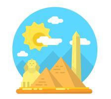 Platt Landskap i Egypten vektor