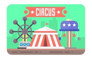 Färgglada cirkusillustrationen
