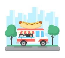 Städtischer Hotdog-LKW