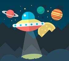 Flaches UFO vektor