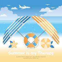 Vektor-Sommerferien-Hintergrund-Illustration vektor