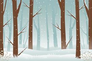 Winterwald Dschungel Hintergrund vektor