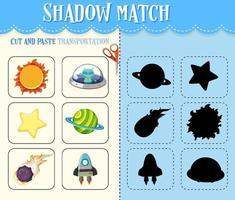 skuggmatchspel för barn vektor