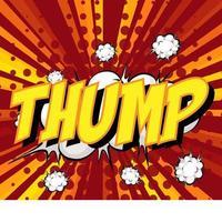thump formulering komisk pratbubbla på burst vektor