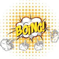 Comic-Sprechblase mit Boing-Text vektor