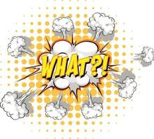 Comic-Sprechblase mit welchem Text vektor