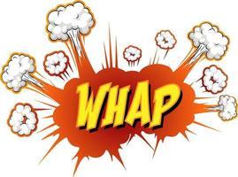 Comic-Sprechblase mit Whap-Text vektor