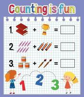 matematikantalet kalkylblad