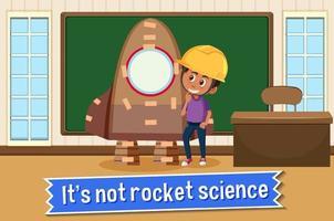 idiomaffisch med det är inte raketvetenskap