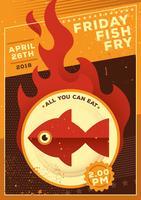 Freitag Fisch braten vektor