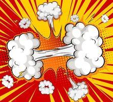 leere Boom-Comic-Sprechblase vektor