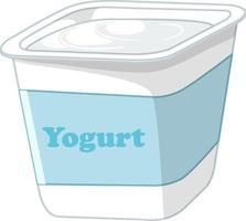 isolierter Joghurt auf weißem Hintergrund vektor