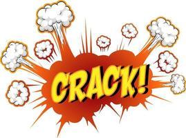 Comic-Sprechblase mit Crack-Text vektor