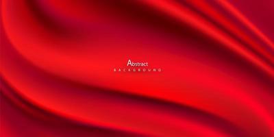 abstrakte Farbverläufe, Stoff rote Wellen Banner Vorlage Hintergrund. vektor
