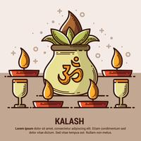 Koppar Kalash Illustration vektor