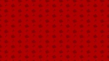 jul röda sömlösa mönster med jultomten släde och renar vektor