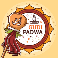 Gudi Padwa Abbildung vektor