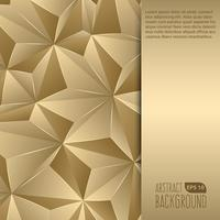Gold abstrakter Hintergrund Flyer vektor