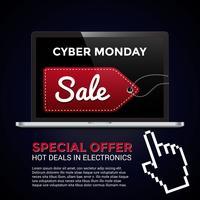 Cyber Montag einkaufen vektor