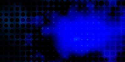 dunkelrosa, blauer Vektorhintergrund mit Punkten.