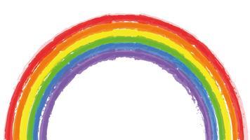 Aquarell Regenbogen vektor