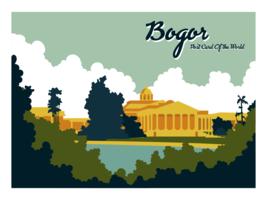 Bogor Indonesien Postkarte Vektor