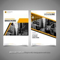 Gul broschyrdesign vektor