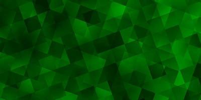ljusgrönt vektormönster med polygonal stil med kuber. vektor