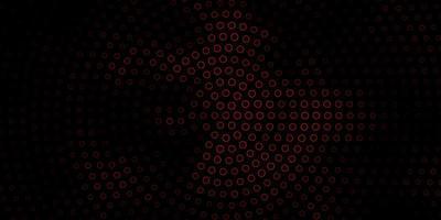 mörk orange vektor layout med cirklar.
