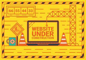 Webbplats under uppbyggnad vektor