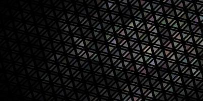 mörkgrå vektor bakgrund med trianglar.