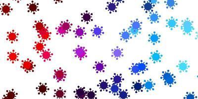 ljusblå, röd vektorstruktur med sjukdomssymboler. vektor