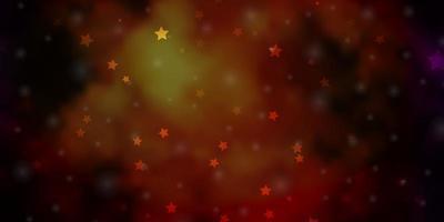 mörk flerfärgad vektorbakgrund med färgglada stjärnor. vektor