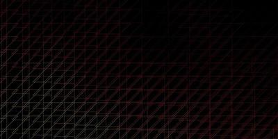 dunkeloranger Vektorhintergrund mit Linien.