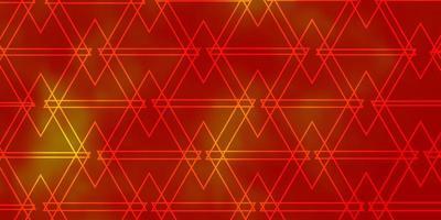 ljus orange vektor bakgrund med månghörnigt stil.