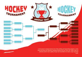 Hockey-Turnier-Klammer-Plakat vektor