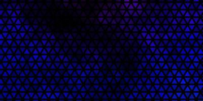 mörkrosa, blå vektorbakgrund med linjer, trianglar. vektor