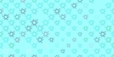 hellblaue, grüne Vektorbeschaffenheit mit Krankheitssymbolen.