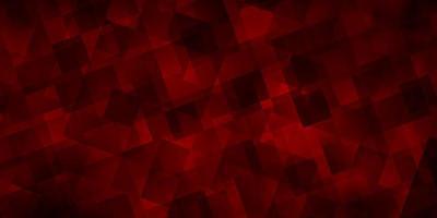 dunkelroter Vektorhintergrund mit Linien, Dreiecken.
