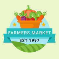 bönder marknadslogo vektor