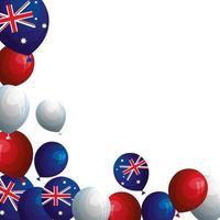 ange ballonger helium med flagga australien vektor